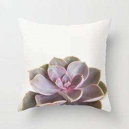 Purple Succulent Throw Pillow