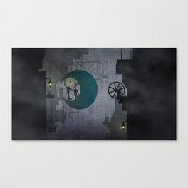 Moon City Canvas Print