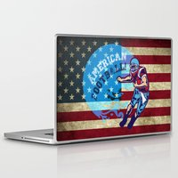 nfl Laptop & iPad Skins featuring American Football  by MaNia Creations
