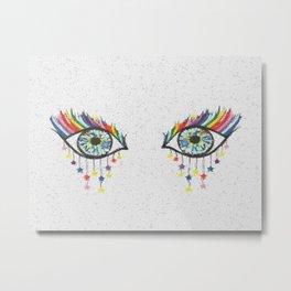 Eye See Rainbows And Stars Metal Print