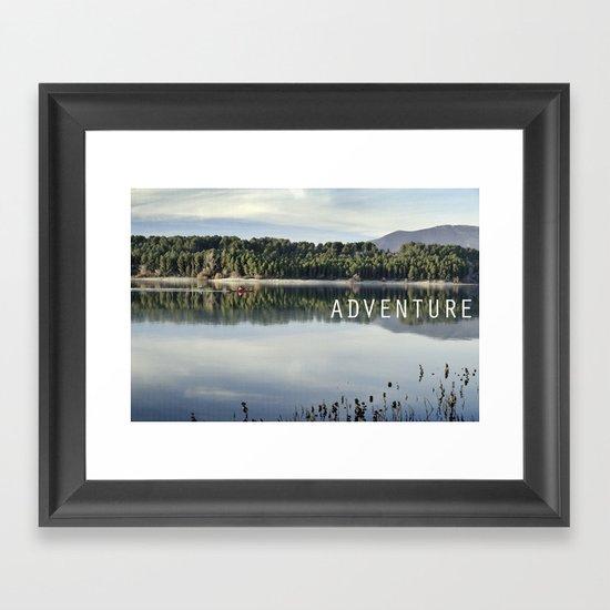 Adventure. Canoeing on the lake.  Framed Art Print