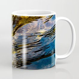 River Ripples in Copper Gold and Brown Coffee Mug