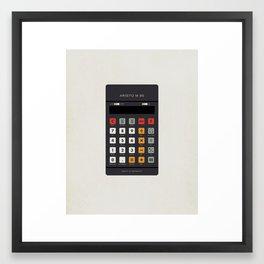 "Vintage Calculator Series: ""Aristo M 85"" Framed Art Print"
