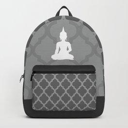 Grey and White Buddha Backpack