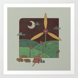Green Living Art Print
