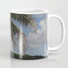 Hawaii Haze - Tropical Beach with Palm Trees Coffee Mug