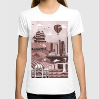melbourne T-shirts featuring Melbourne Travel Poster Illustration by ClaireIllustrations
