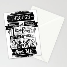 Labyrinth Quote You Have No Power Over Me Stationery Cards