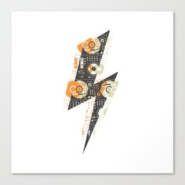 Dj's Lightning Of Vinyl Music Canvas Print