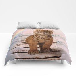 A tiger on the Rainbow Bridge Comforters