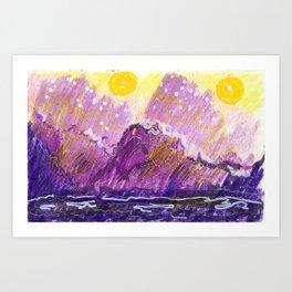 Golden Moons Art Print