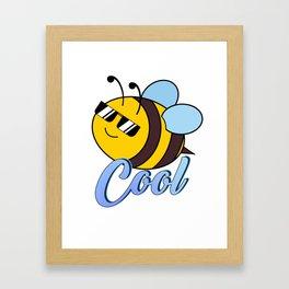 Be Cool Cute Honey Bee Framed Art Print