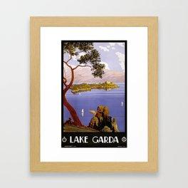 Vintage travel poster - Lake Garda Framed Art Print