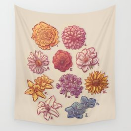 10 Flowers Wall Tapestry