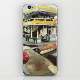 Capt. Carl W. Bolender sits abroad the S.S. Hurricane Gloria - Long Wharf, Newport iPhone Skin