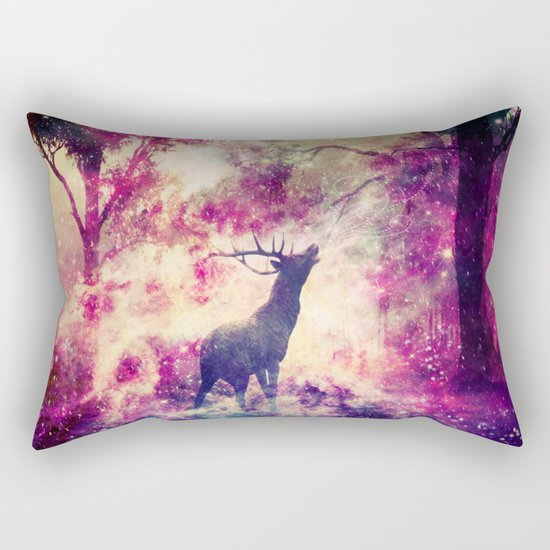 Alone in the Magic forest Rectangular Pillow