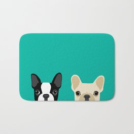 Boston Terrier & French Bulldog 2 Bath Mat