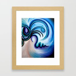Lady Flow Abstract Framed Art Print