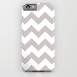 LIGHT GREY AND WHITE CHEVRON PATTERN  iPhone Case