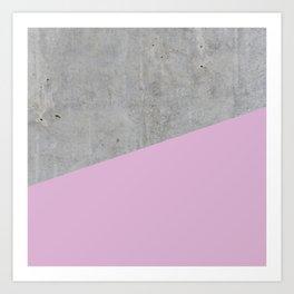Concrete with Pink Lavender Color Art Print