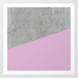 Concrete with Pink Lavender Color Art Print