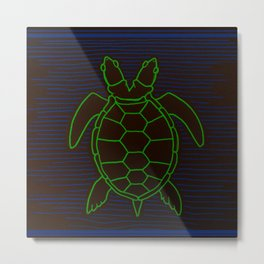 Conjoined Turtle Twins Metal Print