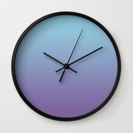Pantone Chive Blossom Purple 18-3634 and Limpet Shell Blue 13-4810 Ombre Gradient Blend Wall Clock