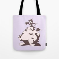 sith Tote Bags featuring Cait Sith by Studio Momo╰༼ ಠ益ಠ ༽