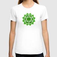 chakra T-shirts featuring Heart Chakra by cosmicsenpai