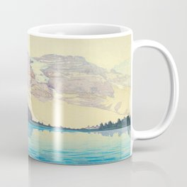 Moraine Lake (Moren) Hiroshi Yoshida Japanese Woodblock Print Coffee Mug