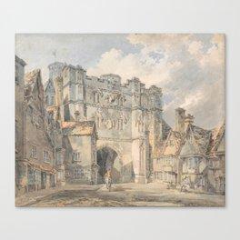 "J.M.W. Turner ""Christ Church Gate, Canterbury"" Canvas Print"