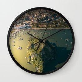 Last light of Ha Long Bay, Vietnam. Wall Clock