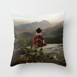 "Sunrise on top of ""Kleiner Winterberg"" in Saxon Switzerland/Germany Throw Pillow"