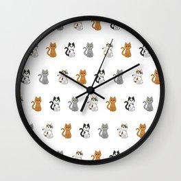 Pixel Cats Wall Clock