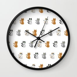 Pixel Cats Wall Clock