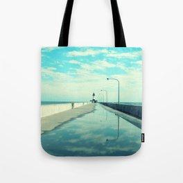 Breakwater Lighthouse Tote Bag