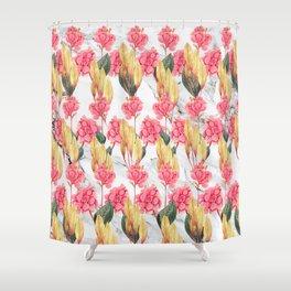 Tender Lines | Botanical Pattern Shower Curtain
