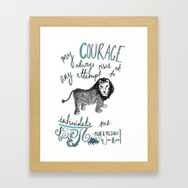 COURAGE: PRIDE AND PREJUDICE by JANE AUSTEN Framed Art Print