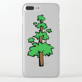 Poof Tree Clear iPhone Case