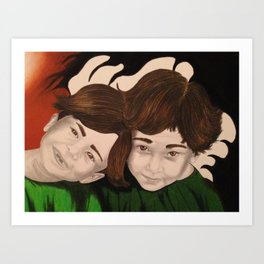 Chi and Stephen as children Art Print