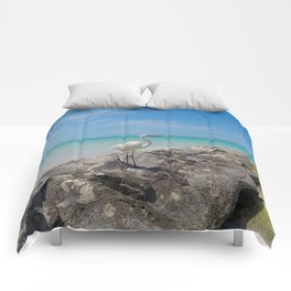 Heron By The Sea Comforters