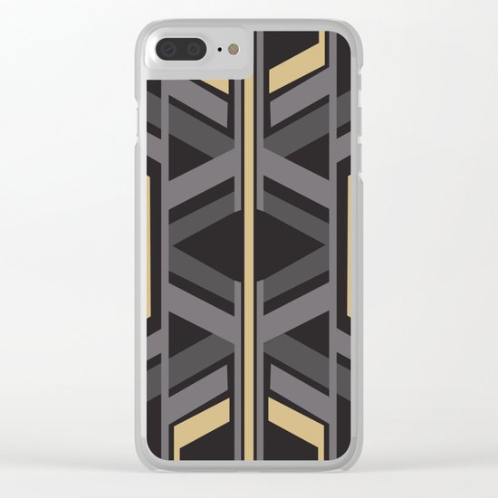 Art Deco Traveller In Grey Clear iPhone Case