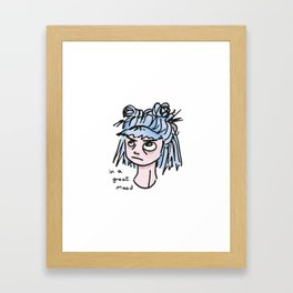 IN A GREAT MOOD. Framed Art Print