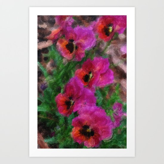 Pansies Painting Art Print