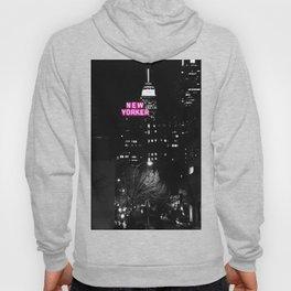 new york city Black & White + Pink Hoody