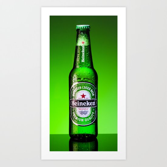 Ice cold Heineken Art Print