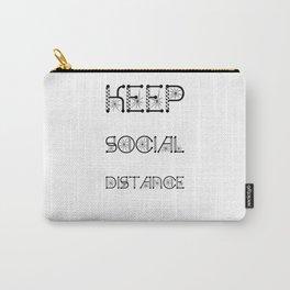 Keep Social Distance Virus Awareness Design Carry-All Pouch