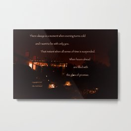 """Meteor Shower Night"" with poem: Nightfall Metal Print"
