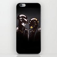 daft punk iPhone & iPod Skins featuring DAFT PUNK by Gregory Casares