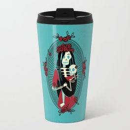 Skeleton Mother & Child - Dia de los Muertos Travel Mug